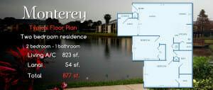 Monterey | Two Bedroom Floor Plan