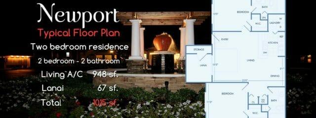 Newport | 2 Bedroom 2 Bath Resort Condo-Apartment